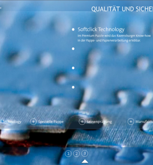 Ravensburger Online Magazin Screendesign